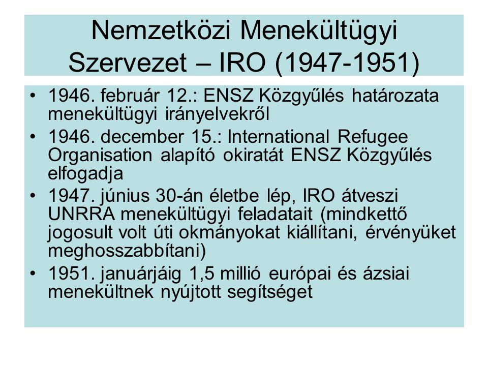 Nemzetközi Menekültügyi Szervezet – IRO (1947-1951)