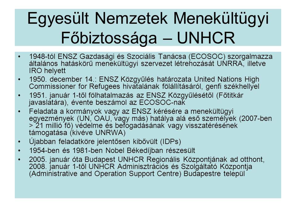 Egyesült Nemzetek Menekültügyi Főbiztossága – UNHCR