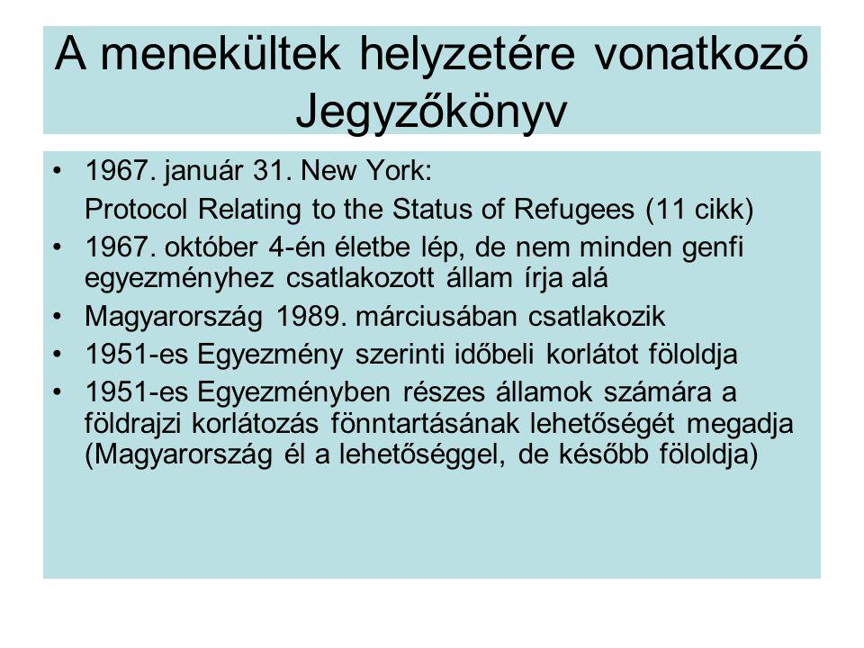 A menekültek helyzetére vonatkozó Jegyzőkönyv