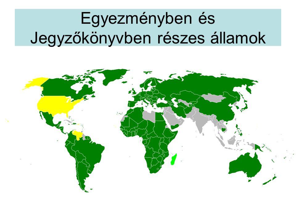 Egyezményben és Jegyzőkönyvben részes államok