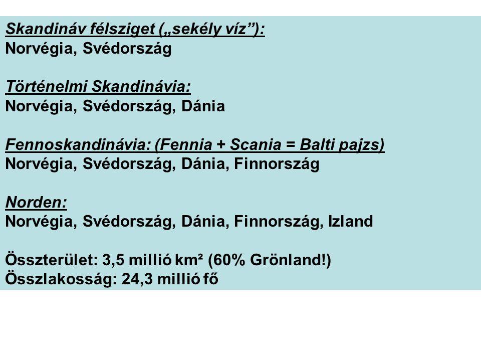 """Skandináv félsziget (""""sekély víz ):"""