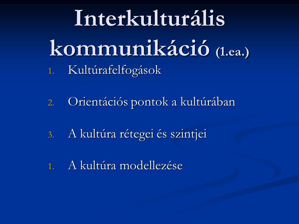 Interkulturális kommunikáció (1.ea.)