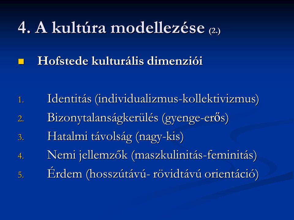 4. A kultúra modellezése (2.)