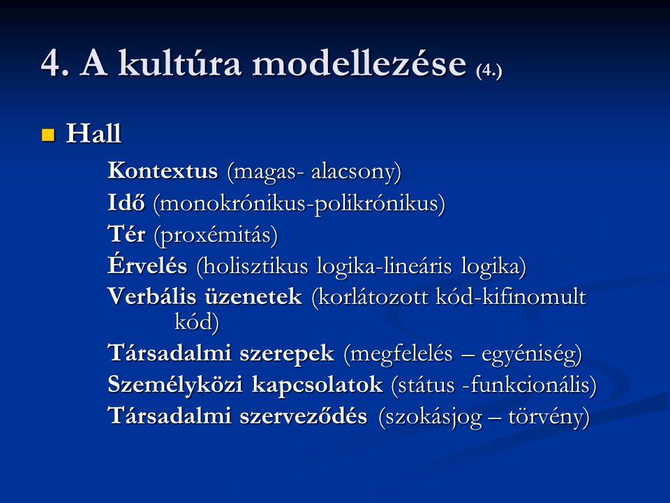 4. A kultúra modellezése (4.)