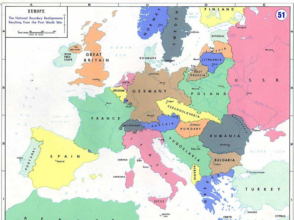 Európa az I. világháború után