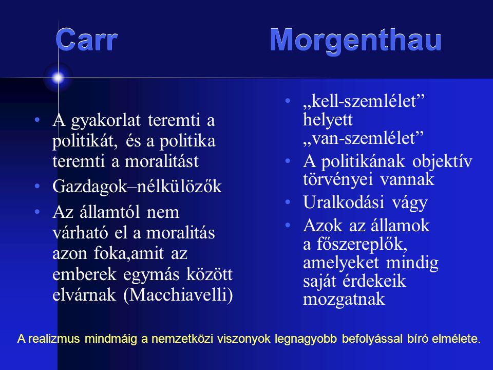 """Carr Morgenthau """"kell-szemlélet helyett """"van-szemlélet"""