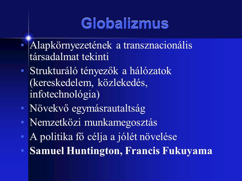 Globalizmus Alapkörnyezetének a transznacionális társadalmat tekinti