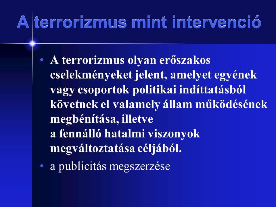 A terrorizmus mint intervenció