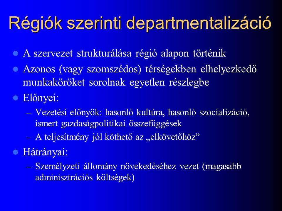 Régiók szerinti departmentalizáció