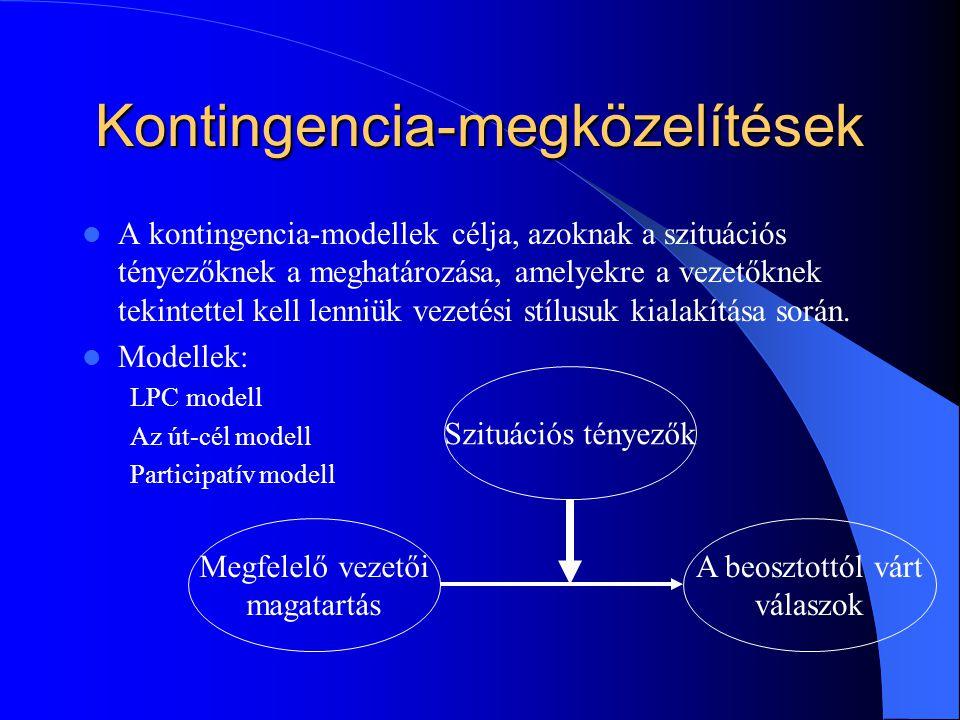 Kontingencia-megközelítések