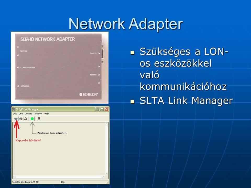 Network Adapter Szükséges a LON-os eszközökkel való kommunikációhoz