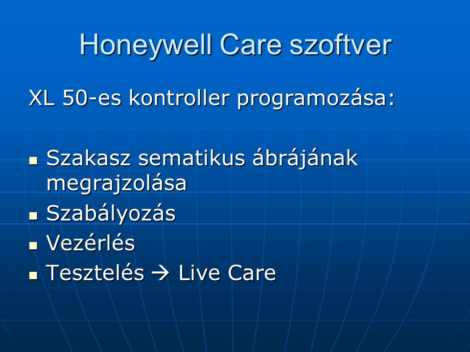 Honeywell Care szoftver