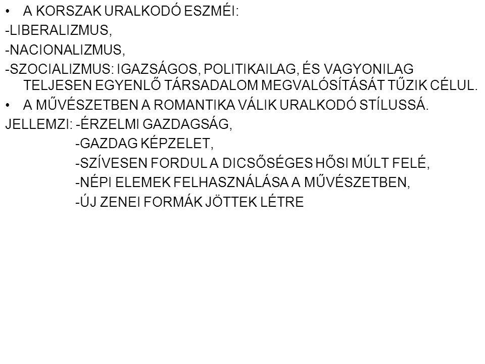 A KORSZAK URALKODÓ ESZMÉI: