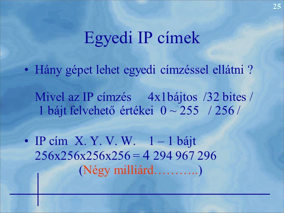 Egyedi IP címek
