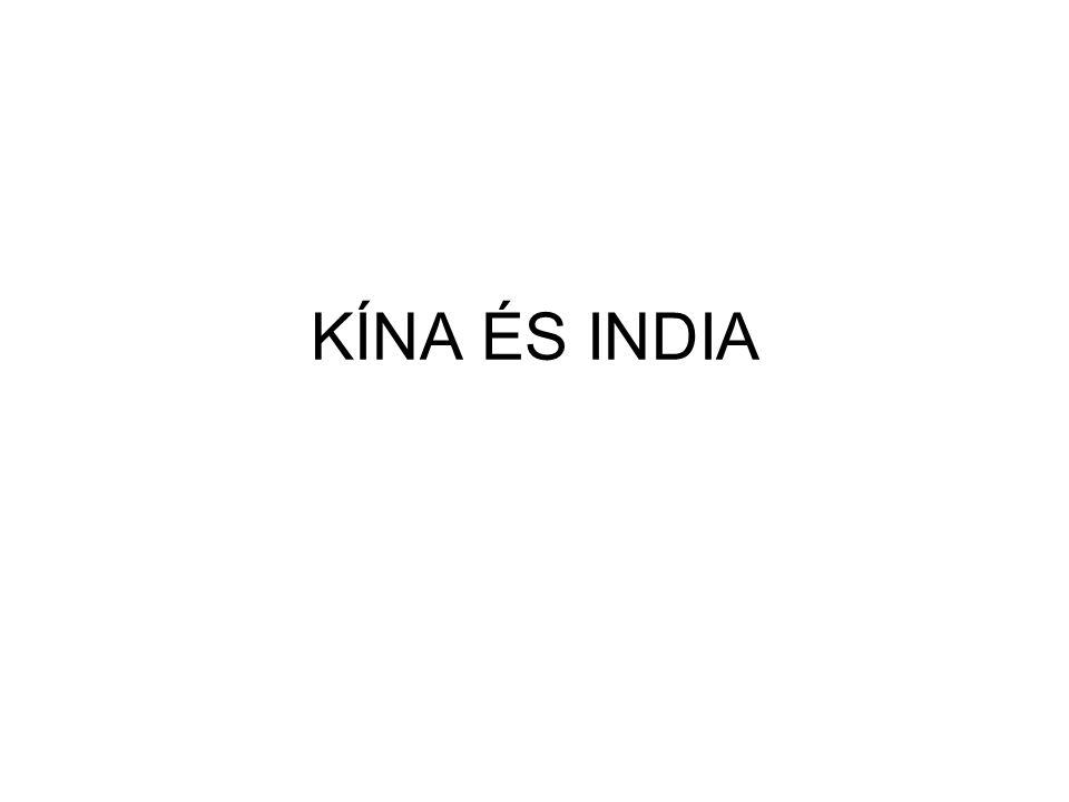 KÍNA ÉS INDIA