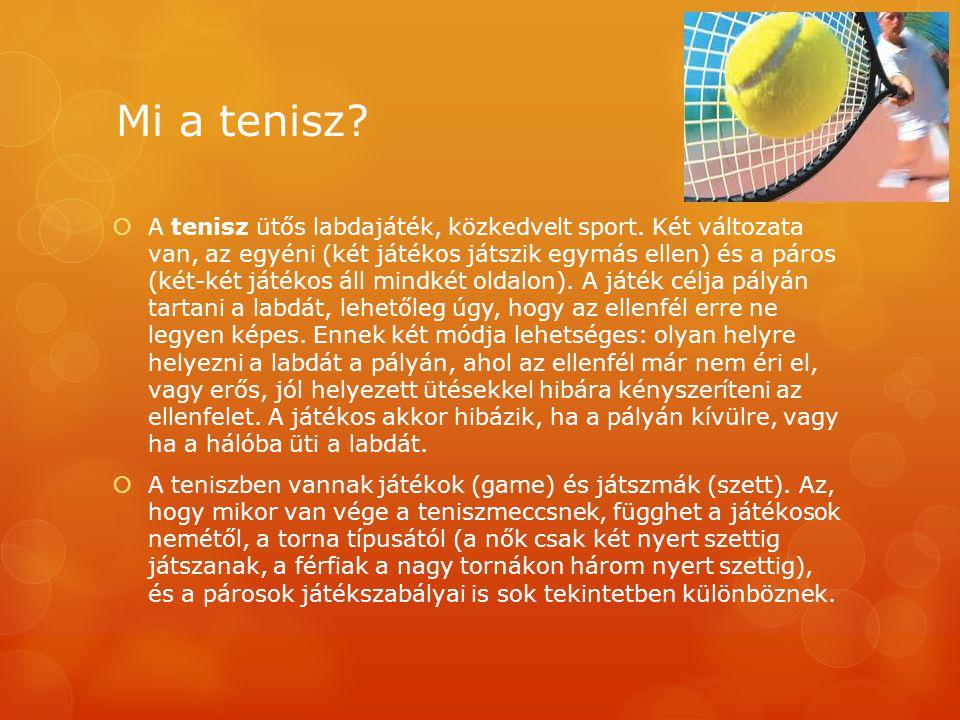 Mi a tenisz