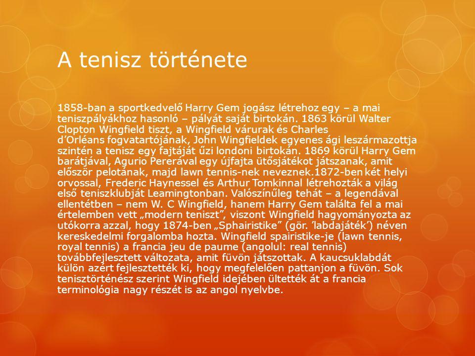 A tenisz története