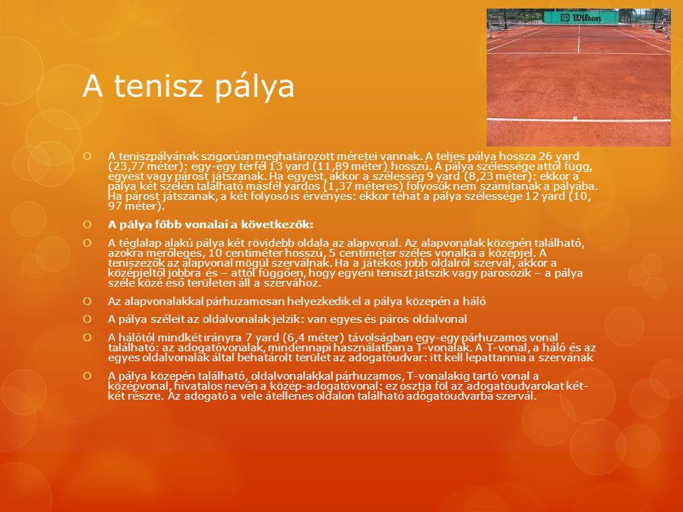 A tenisz pálya