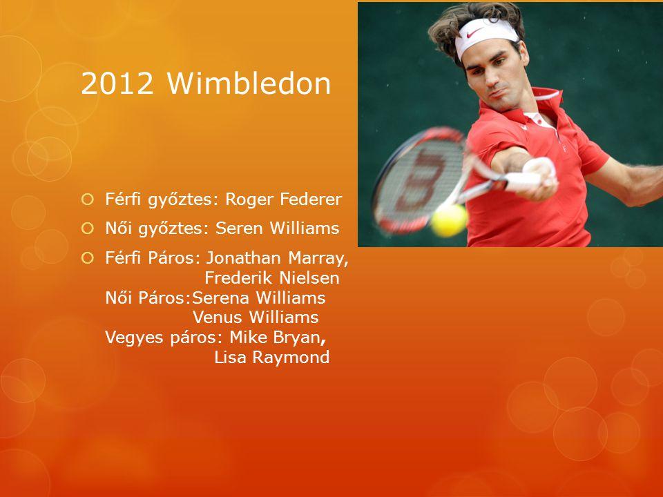 2012 Wimbledon Férfi győztes: Roger Federer