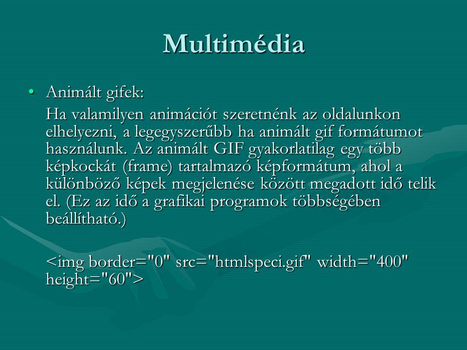 Multimédia Animált gifek: