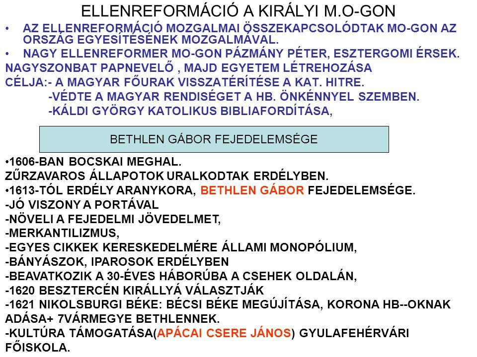 ELLENREFORMÁCIÓ A KIRÁLYI M.O-GON