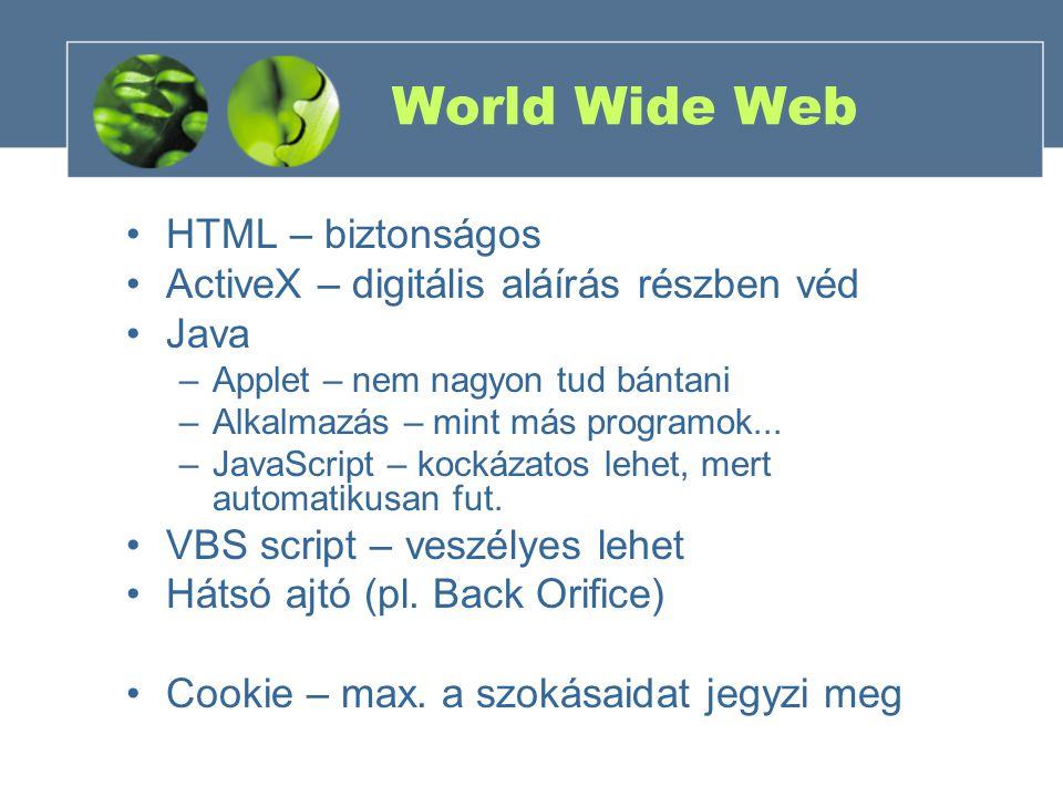 World Wide Web HTML – biztonságos