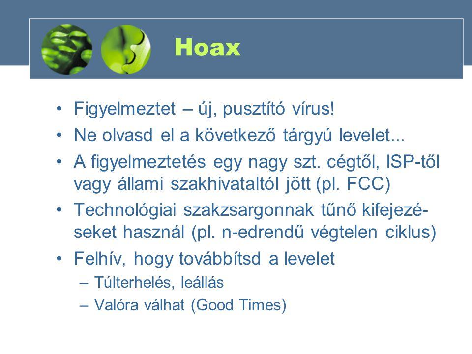 Hoax Figyelmeztet – új, pusztító vírus!