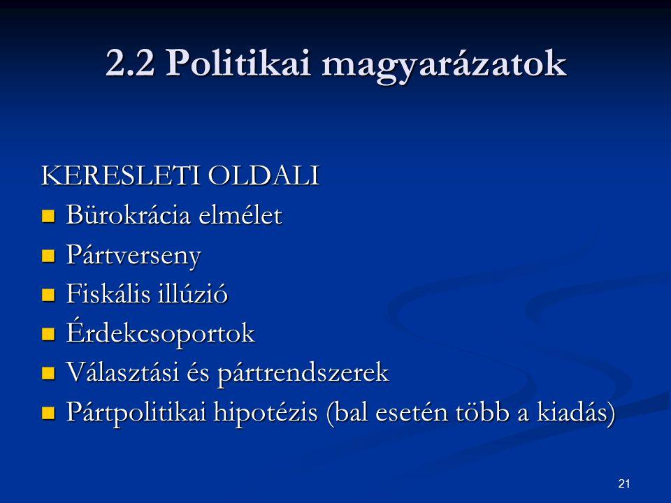 2.2 Politikai magyarázatok