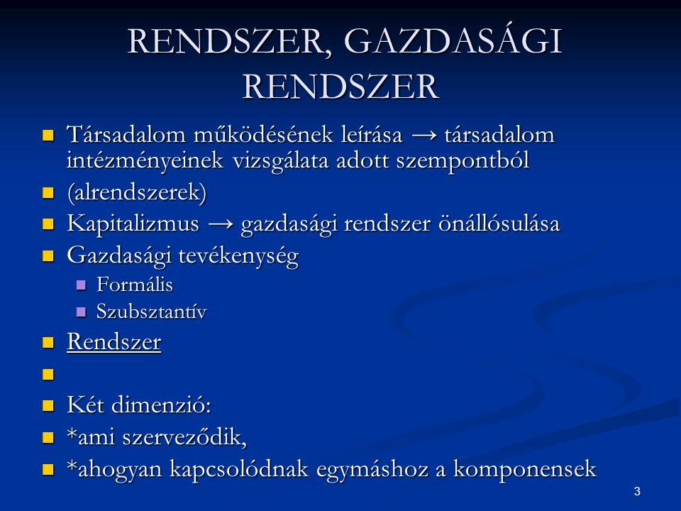 RENDSZER, GAZDASÁGI RENDSZER