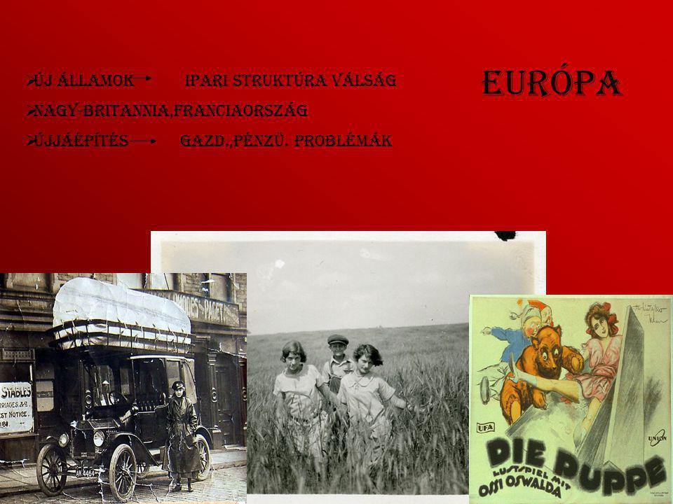 Európa Új államok ipari struktúra válság Nagy-Britannia,Franciaország