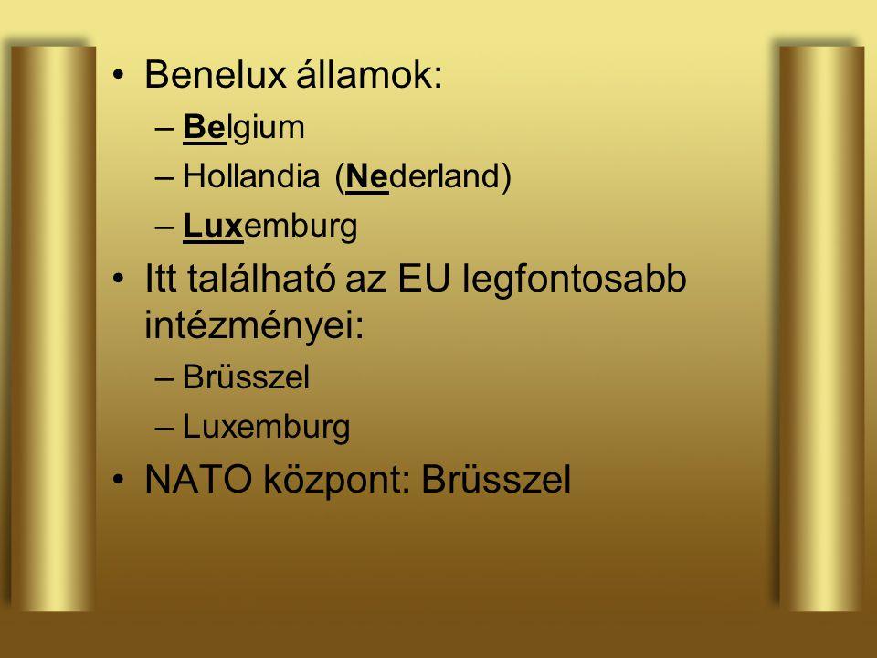 Itt található az EU legfontosabb intézményei: