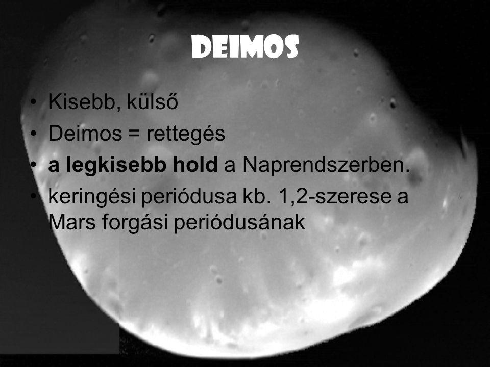 DEIMOS Kisebb, külső Deimos = rettegés