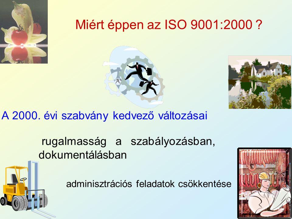 A 2000. évi szabvány kedvező változásai