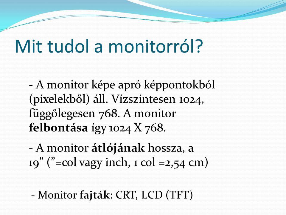 Mit tudol a monitorról