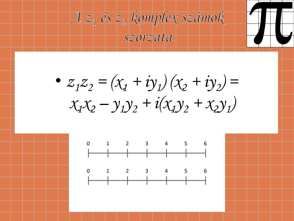 A z1 és z2 komplex számok szorzata