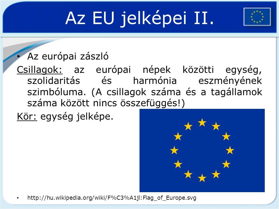 Az EU jelképei II. Az európai zászló