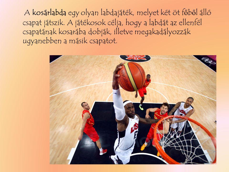 A kosárlabda egy olyan labdajáték, melyet két öt főből álló csapat játszik.