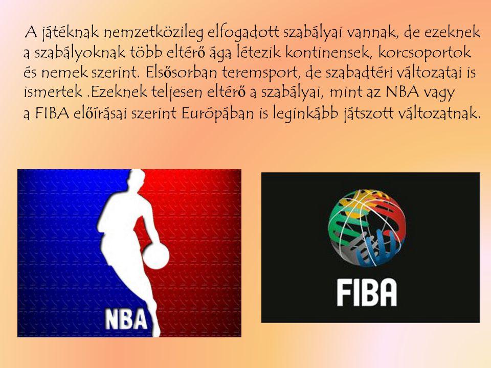 A játéknak nemzetközileg elfogadott szabályai vannak, de ezeknek a szabályoknak több eltérő ága létezik kontinensek, korcsoportok és nemek szerint.