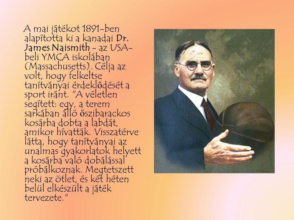 A mai játékot 1891-ben alapította ki a kanadai Dr
