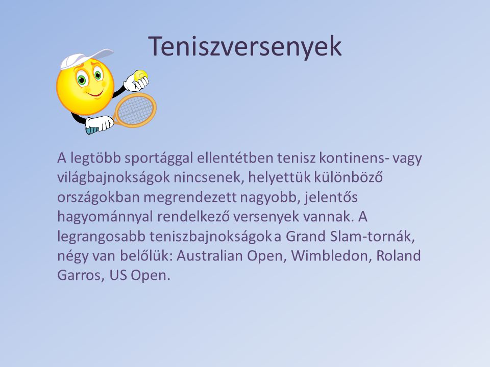 Teniszversenyek