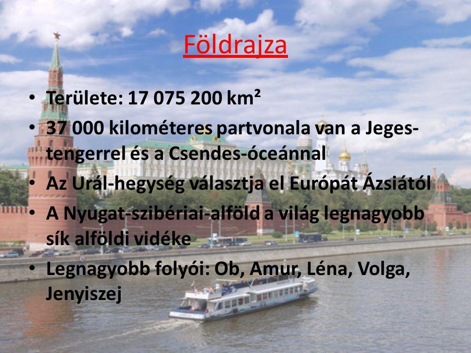 Földrajza Területe: 17 075 200 km²