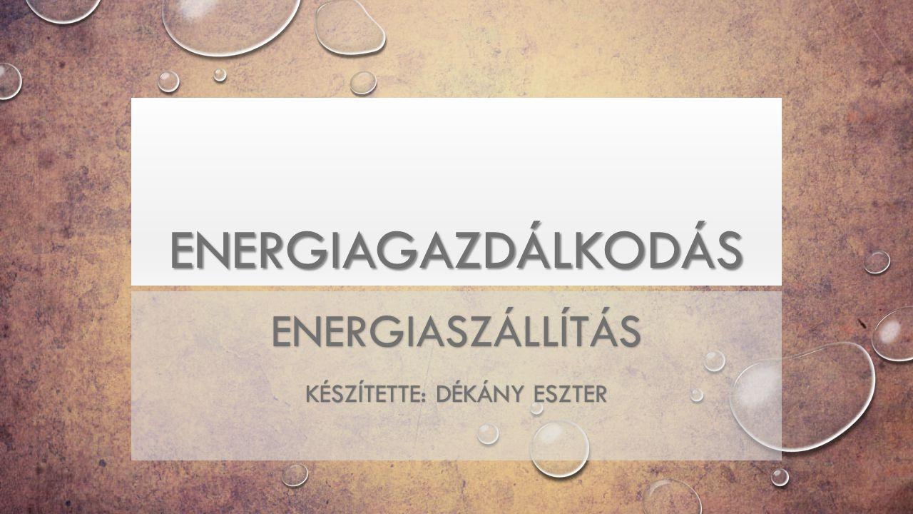 Energiaszállítás készítette: Dékány Eszter