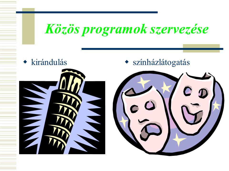 Közös programok szervezése