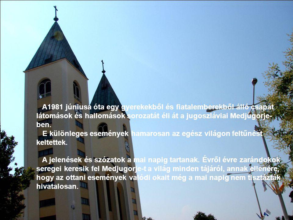 A1981 júniusa óta egy gyerekekből és fiatalemberekből álló csapat látomások és hallomások sorozatát éli át a jugoszláviai Medjugorje-ben.