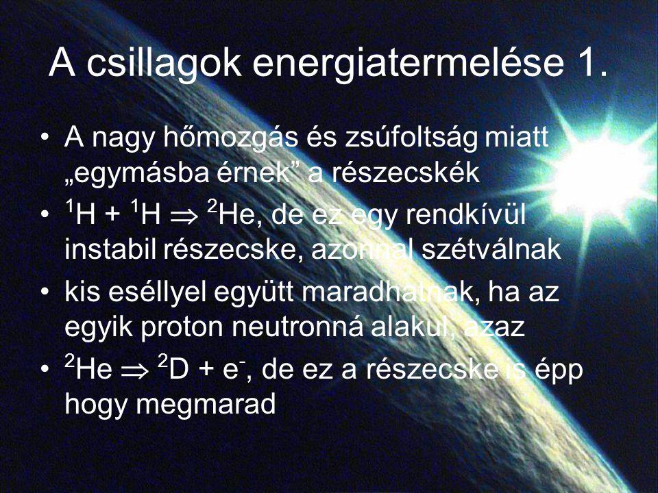 A csillagok energiatermelése 1.