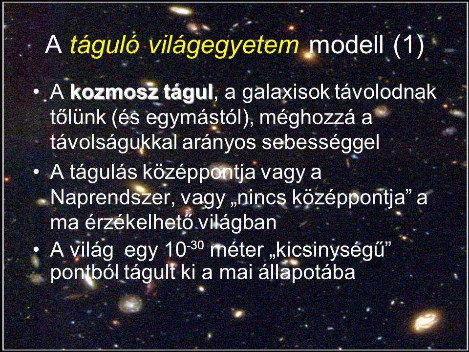 A táguló világegyetem modell (1)