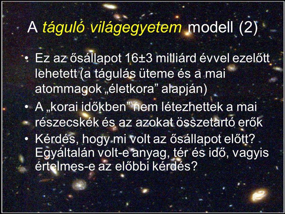 A táguló világegyetem modell (2)