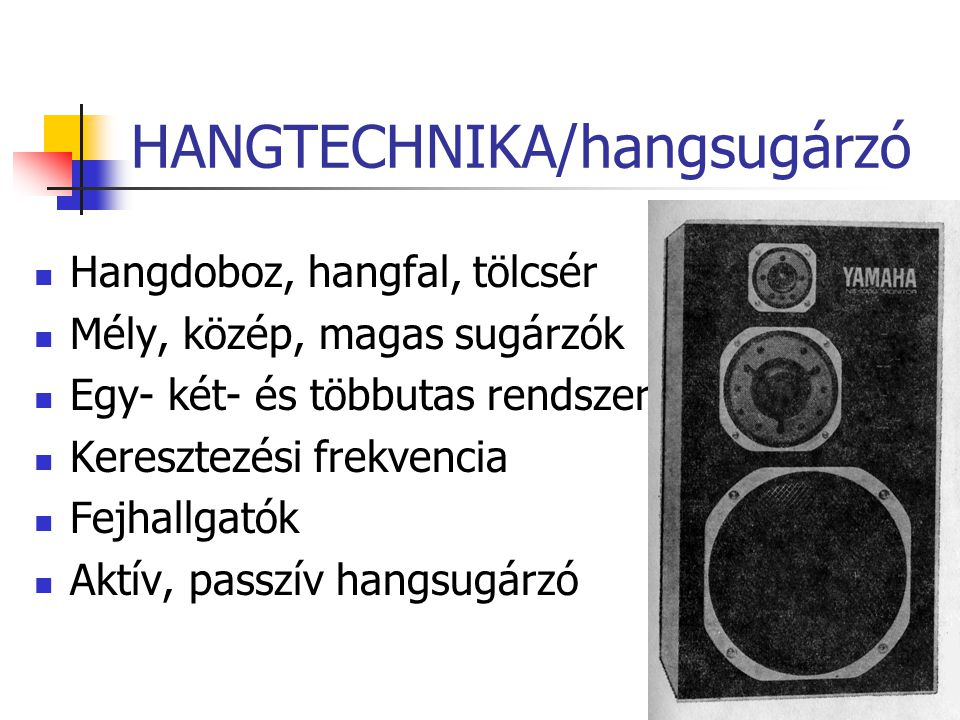 HANGTECHNIKA/hangsugárzó