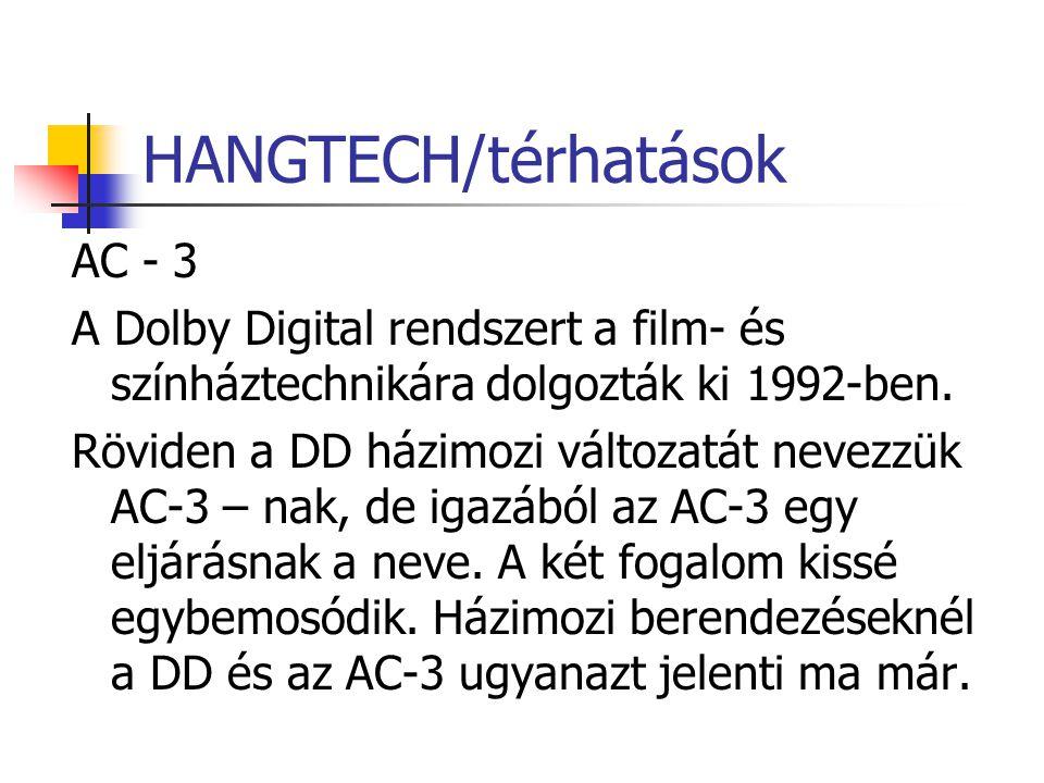 HANGTECH/térhatások AC - 3