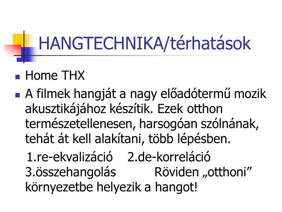 HANGTECHNIKA/térhatások